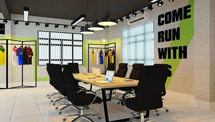 Thiết kế nội thất phòng họp đẹp ấn tượng trong văn phòng 70m2