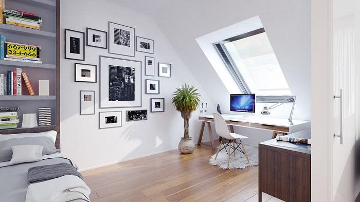 Mẫu thiết kế không gian làm việc tại nhà đẹp độc đáo và tiện nghi