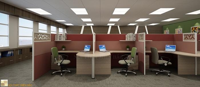 Mẫu thiết kế nội thất văn phòng hiện đại, năng động