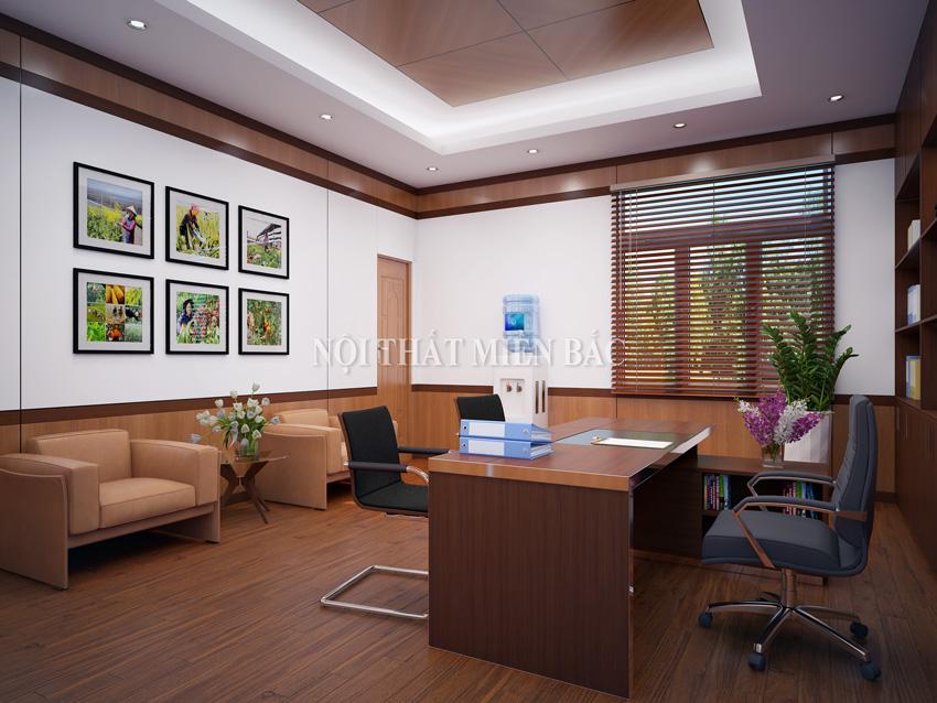 Thiết kế không gian nội thất phòng giám đốc hài hòa, cân đối