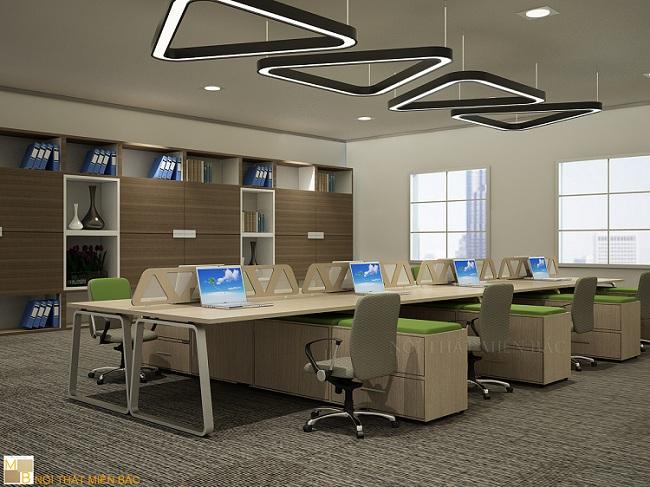 Thiết kế văn phòng hiện đại tối ưu công năng nội thất