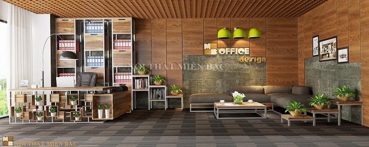 Thiết kế nội thất văn phòng xanh hiện đại VPMB01 - Phòng giám đốc