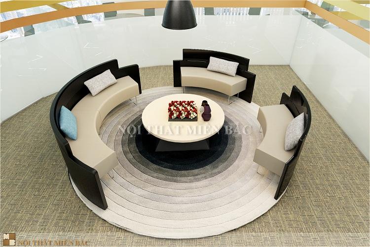 Thiết kế văn phòng với vách ngăn nhôm kính hiện đại