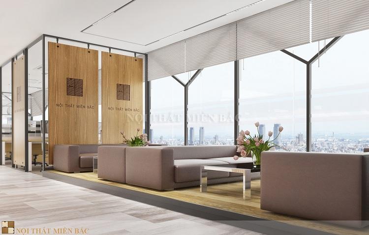 Thiết kế nội thất văn phòng cao cấp VPMB05 - khu vực tiếp khách