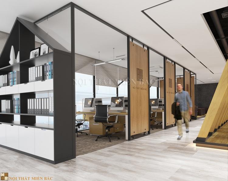 Thiết kế nội thất văn phòng cao cấp VPMB05 - phòng làm việc 1