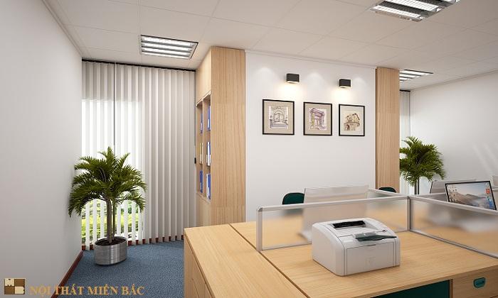 Thiết kế nội thất văn phòng đẹp và hiện đại công ty Vinacademy - phòng hành chính1