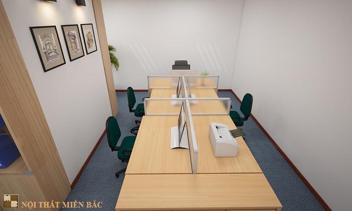 Thiết kế nội thất văn phòng đẹp và hiện đại công ty Vinacademy - phòng hành chính2