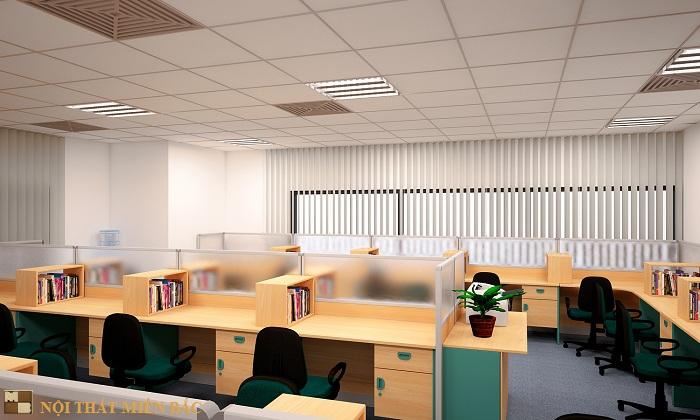 Thiết kế nội thất văn phòng đẹp và hiện đại công ty Vinacademy - phòng làm việc1
