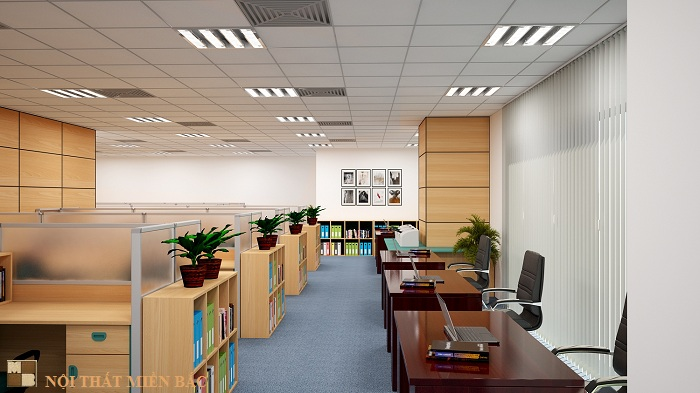 Thiết kế nội thất văn phòng đẹp và hiện đại công ty Vinacademy - phòng làm việc2