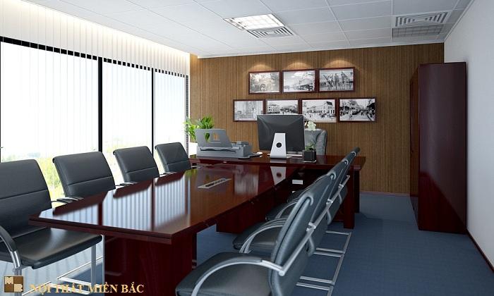 Thiết kế nội thất văn phòng đẹp và hiện đại công ty Vinacademy - phòng tổng giám đốc2
