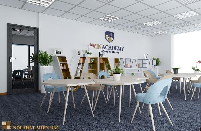 Thiết kế nội thất văn phòng đẹp và hiện đại công ty Vinacademy - phòng pantry1
