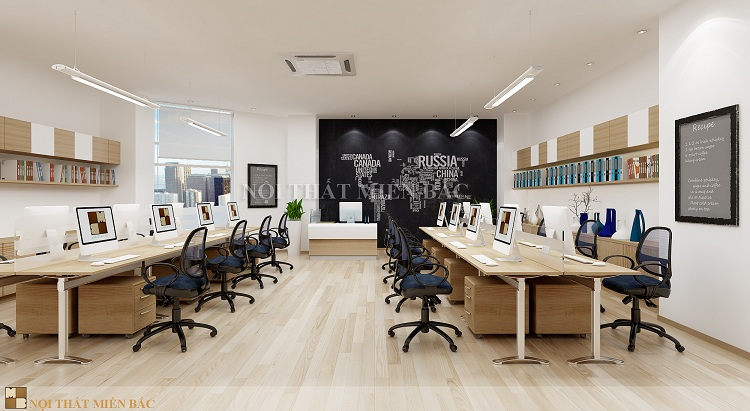 Thiết kế nội thất phòng làm việc hiện đại ấn tượng nhất