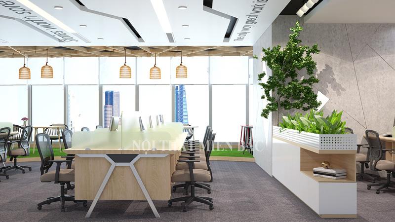 Thiết kế văn phòng dạng mở giúp nhân viên có thể tương trợ nhau