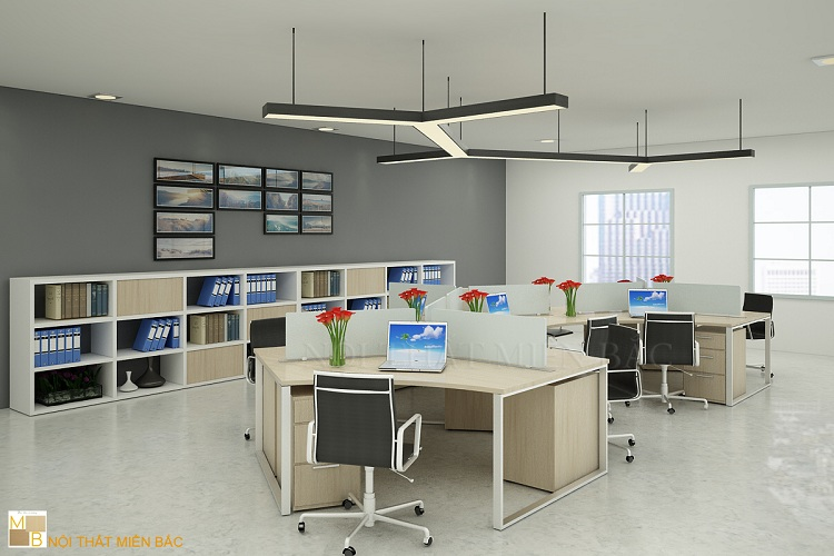 Thiết kế phòng làm việc tại Hà Nội trẻ trung, năng động