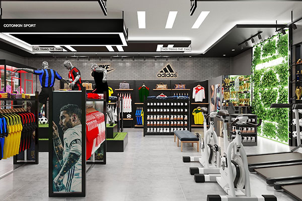 Thiết Kế Showroom thể thao COTONKIN SPORT