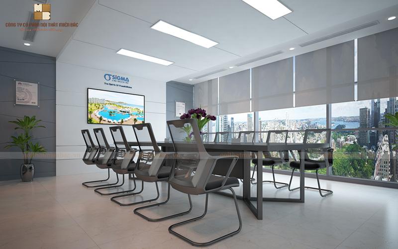 Thiết kế văn phòng họp với tính chuyên nghiệp cao