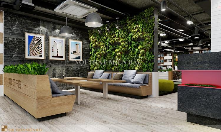 Thiết kế văn phòng đẹp với cây xanh