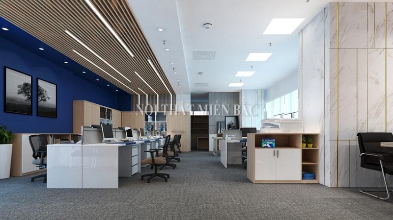 Mẫu thiết kế nội thất văn phòng hiện đại khẳng định vị thế của doanh nghiệp