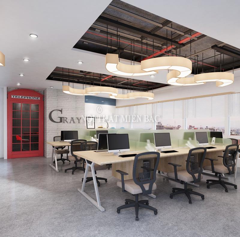 Không gian thiết kế văn phòng hiện đại độc đáo, lý tưởng - H2